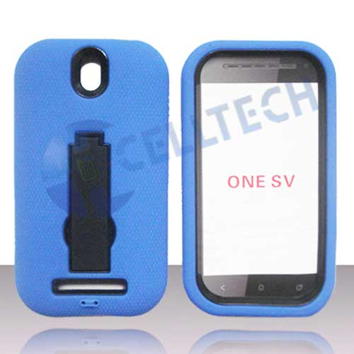 ARMOR SHIELD HTC 1SV BLUE / BLACK