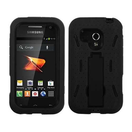 ARMOR SHIELD SAMSUNG RUSH M830 BLACK / BLACK