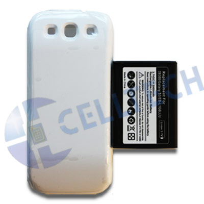 EXTENDED BATTERY WITH BACK DOOR SAMSUNG GALAXY S3 I9300 WHITE