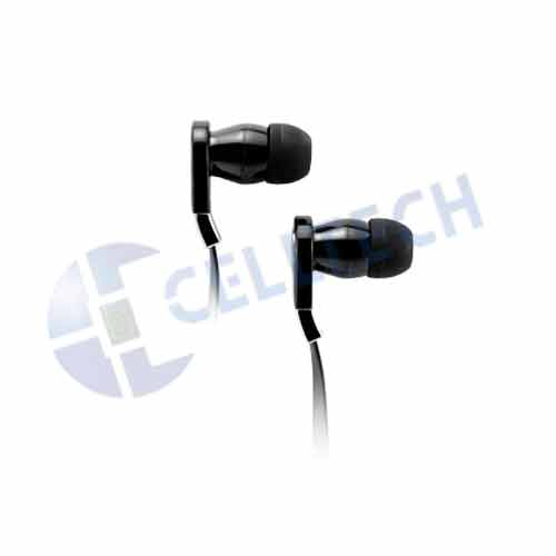 CELLULAR ACCENT FLAT WIRE STEREO HANDS FREE BLACK