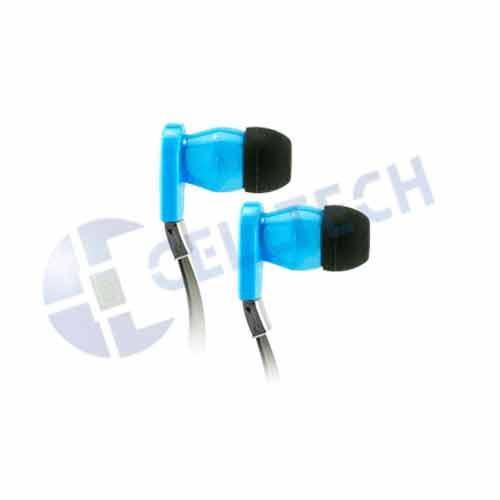 CELLULAR ACCENT FLAT WIRE STEREO HANDS FREE BLUE