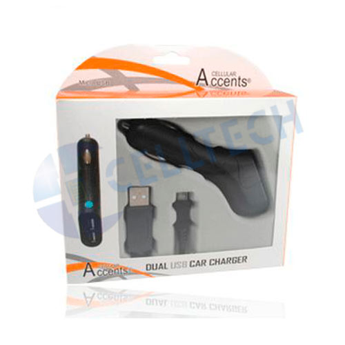 MOTOROLA V8/V9 CAR CHARGER DUAL USB