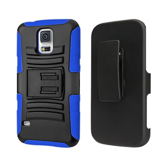 DEFENDER HOLSTER COMBO SAMSUNG GALAXY S5 I9500 BLUE