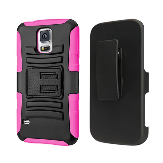 DEFENDER HOLSTER COMBO SAMSUNG GALAXY S4 I9500 HOT PINK