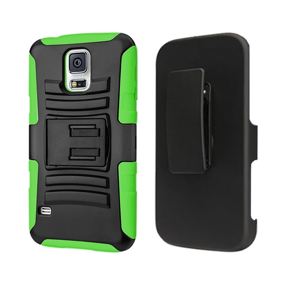 DEFENDER HOLSTER COMBO SAMSUNG GALAXY S5 I9500 LIME GREEN