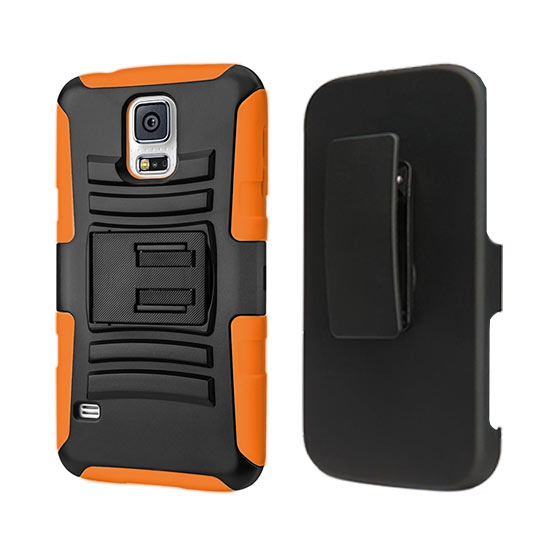 DEFENDER HOLSTER COMBO SAMSUNG GALAXY S4 I9500 ORANGE