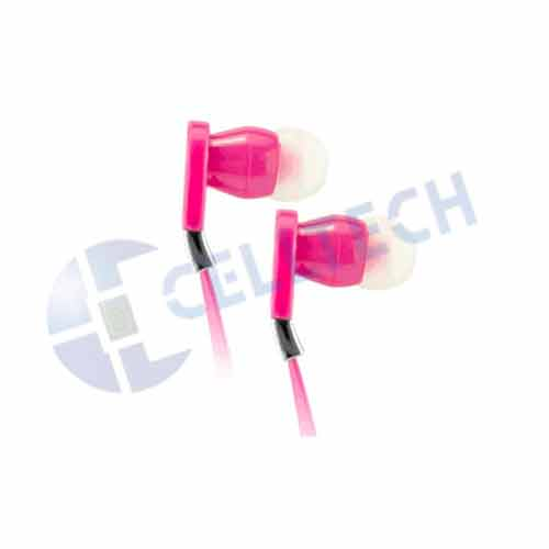 CELLULAR ACCENT FLAT WIRE STEREO HANDS FREE HOT PINK