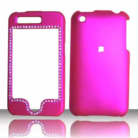 SNAP ON DIAMOND APPLE IPHONE 3G HOT PINK