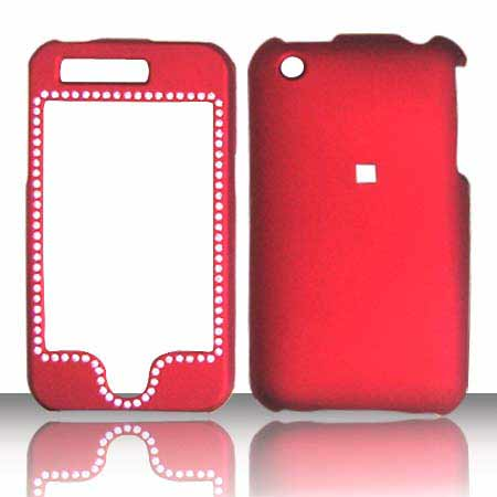 SNAP ON DIAMOND APPLE IPHONE 3G RED