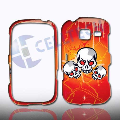 SNAP ON DESIGN SAMSUNG FREEFORM 3 R380 TRIPLE SKULL