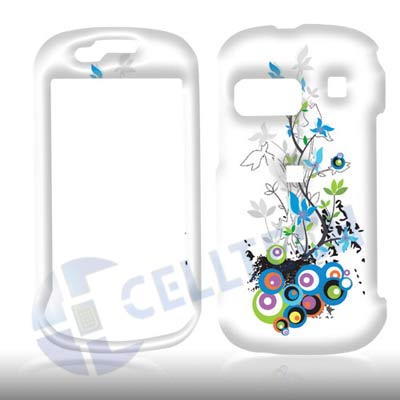 SNAP ON DESIGN SAMSUNG CRAFT R900 FLOWERS WHITE