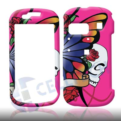SNAP ON DESIGN SAMSUNG CRAFT R900 BUTTERFLY  HOT PINK