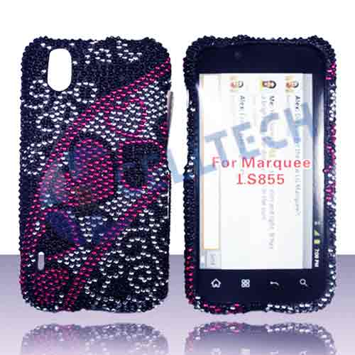 SNAP ON FULL DIAMONDS LG MARQUEE LS855 HEART SWIRL