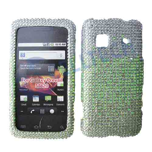 SNAP ON FULL DIAMONDS M820 GALAXY PREVAIL SILVER GREEN
