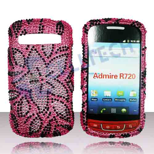 SNAP ON FULL DIAMONDS FOR SAMSUNG ADMIRE R720 PINK FLOWER