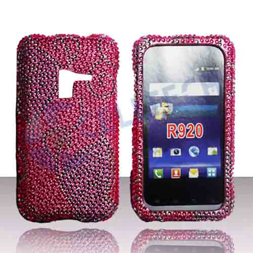 SNAP ON FULL DIAMONDS FOR SAMSUNG ATTAIN R920 PURPLE BUTTERFLY