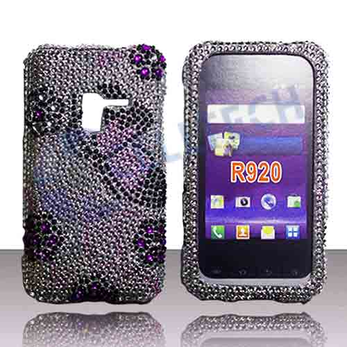 SNAP ON FULL DIAMONDS FOR SAMSUNG ATTAIN R920 SILVER BUTTERFLY