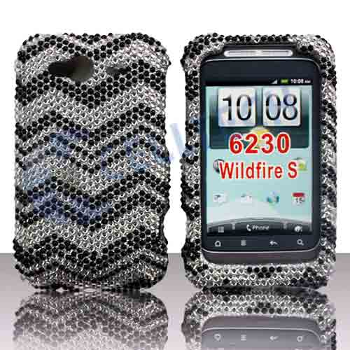 SNAP ON FULL DIAMONDS FOR HTC WILDFIRE-S ZIG ZAG
