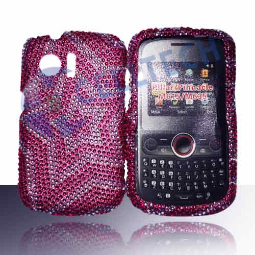 SNAP ON FULL DIAMONDS FOR HUAWEI PINNACLE M635 PURPLE STAR