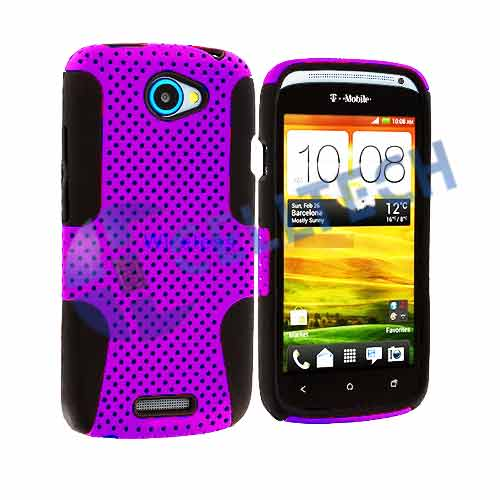 MESH HYBRID CASE HTC ONE SV PURPLE