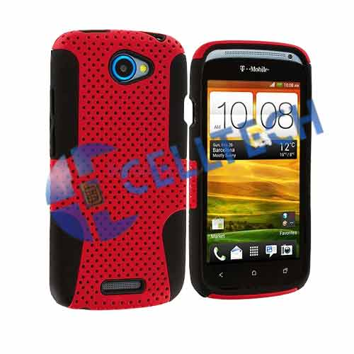 MESH HYBRID CASE HTC ONE SV RED