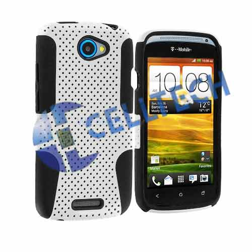 MESH HYBRID CASE HTC ONE SV WHITE