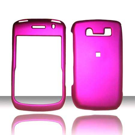 RUBBERIZED SNAP ON BLACKBERRY CURVE 8900 HOT PINK