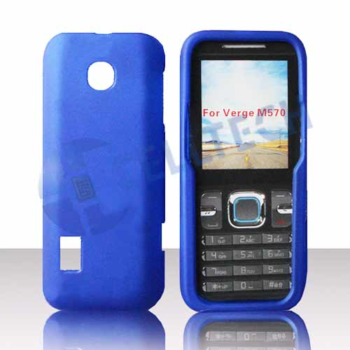 RUBBERIZED SNAP ON CASE FOR HUAWEI VERGE M570 BLUE