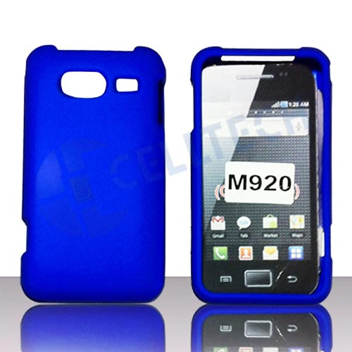 RUBBERIZED SNAP ON CASE COVER FOR HUAWEI ACTIVA M920 BLUE