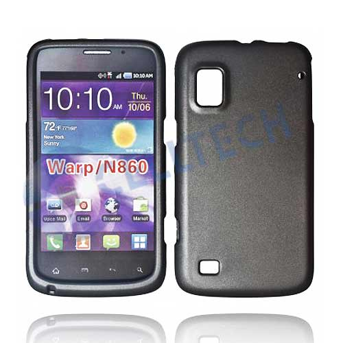 RUBBERIZED SNAP ON CASE FOR ZTE WARP N860 GREY