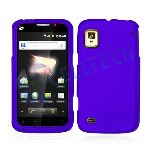 RUBBERIZED SNAP ON CASE FOR ZTE WARP N860 PURPLE