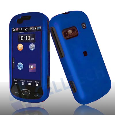 RUBBERIZED SNAP ON CASE FOR SAMSUNG CRAFT R900 BLUE