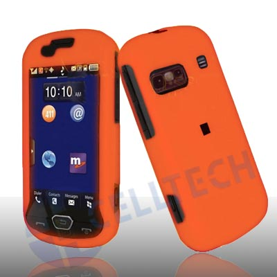 RUBBERIZED SNAP ON CASE FOR SAMSUNG CRAFT R900 ORANGE