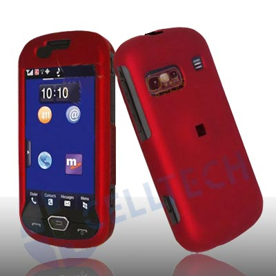 RUBBERIZED SNAP ON CASE FOR SAMSUNG CRAFT R900 RED