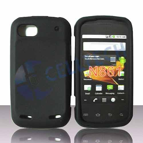 SILICONE CASE FOR ZTE SEQUENT N861 BLACK