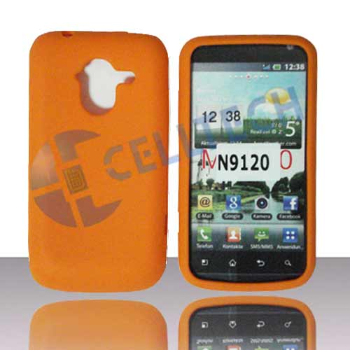 SILICONE CASE FOR ZTE AVID 4G N9120 ORANGE
