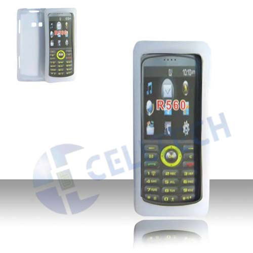 SILICONE CASE FOR SAMSUNG R560 MESSAGER 2 CLEAR