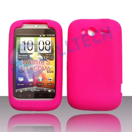 SILICONE CASE HTC WILDFIRE S HOT PINK