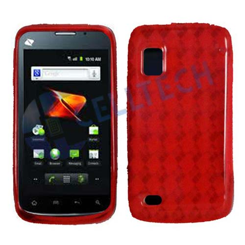 HARD SILICONE CASE FOR ZTE WARP N860 RED