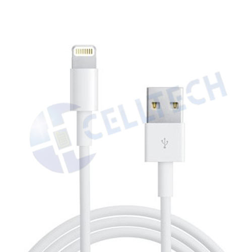 LIGHTNING DATA CABLE IPHONE 5 IN RETAIL BOX (PVC material)